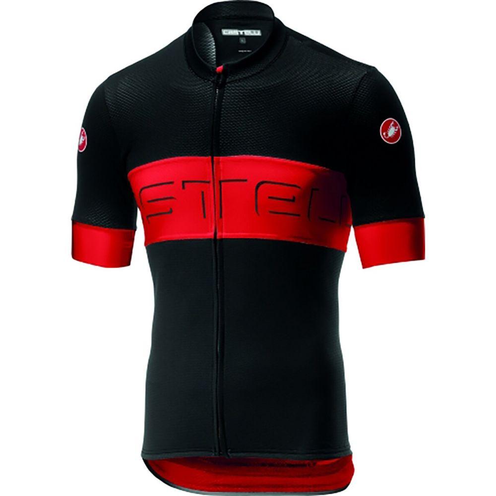 カステリ Castelli メンズ 自転車 トップス【Prologo VI S/S Bike Jersey】Black/Red/Black