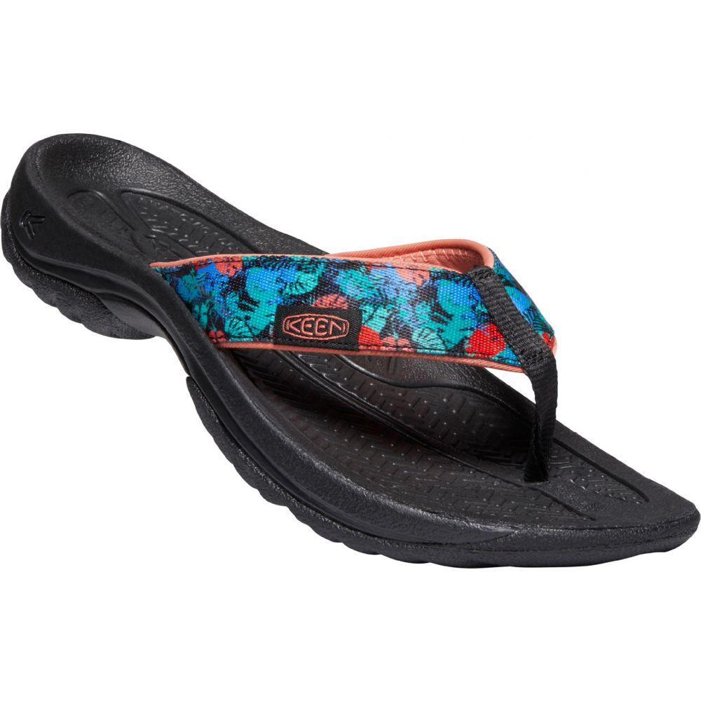 キーン Keen レディース ビーチサンダル シューズ・靴【Kona Flip Sandals】Black Multi/Coral