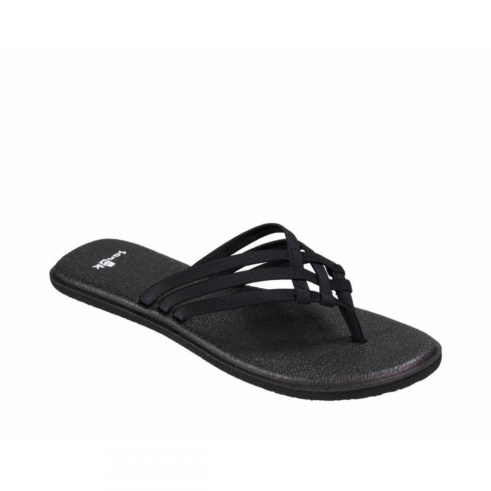 サヌーク Sanuk レディース ヨガ・ピラティス サンダル シューズ・靴【Yoga Salty Sandals】Black