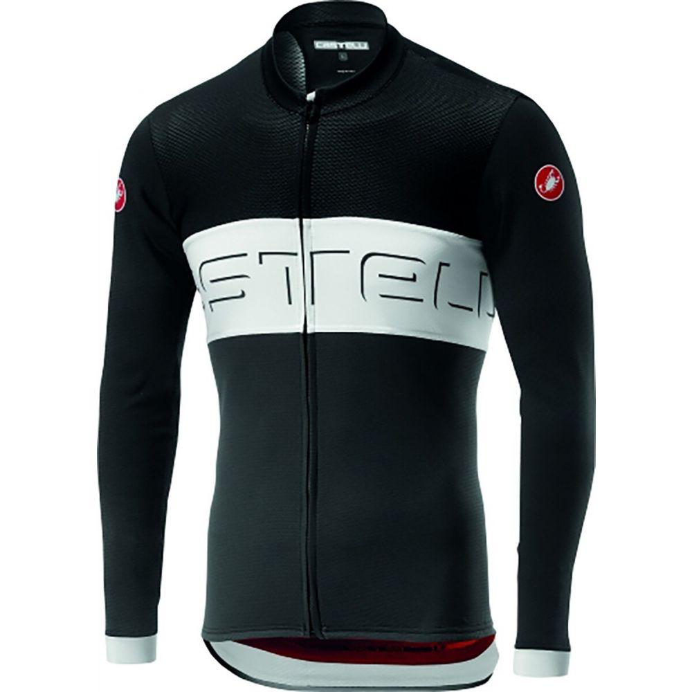 カステリ Castelli メンズ 自転車 トップス【Prologo VI L/S Full Zip Bike Jersey】Black/Ivory/Dark Gray