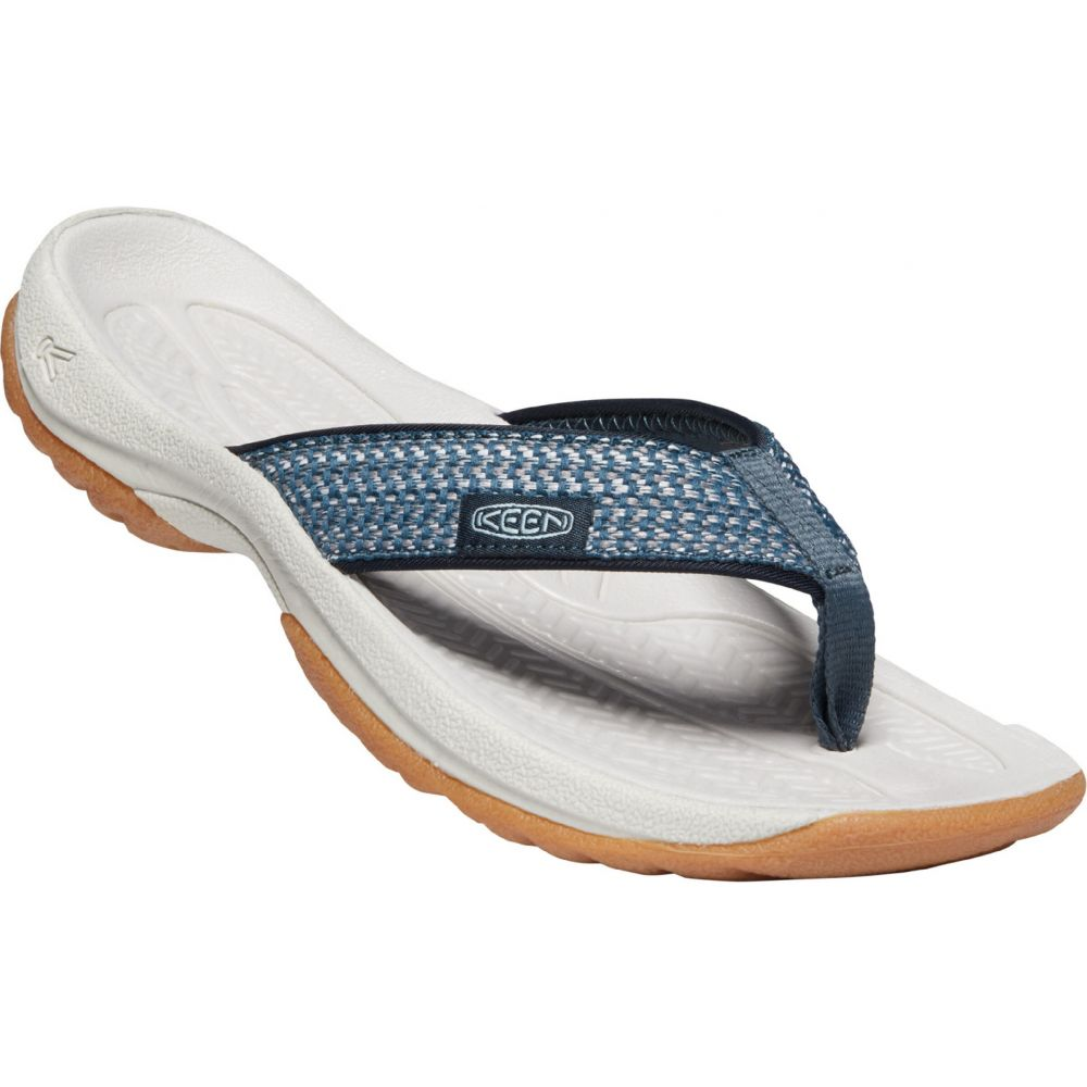 キーン Keen レディース ビーチサンダル シューズ・靴【Kona Flip Sandals】Navy/Blue Glow