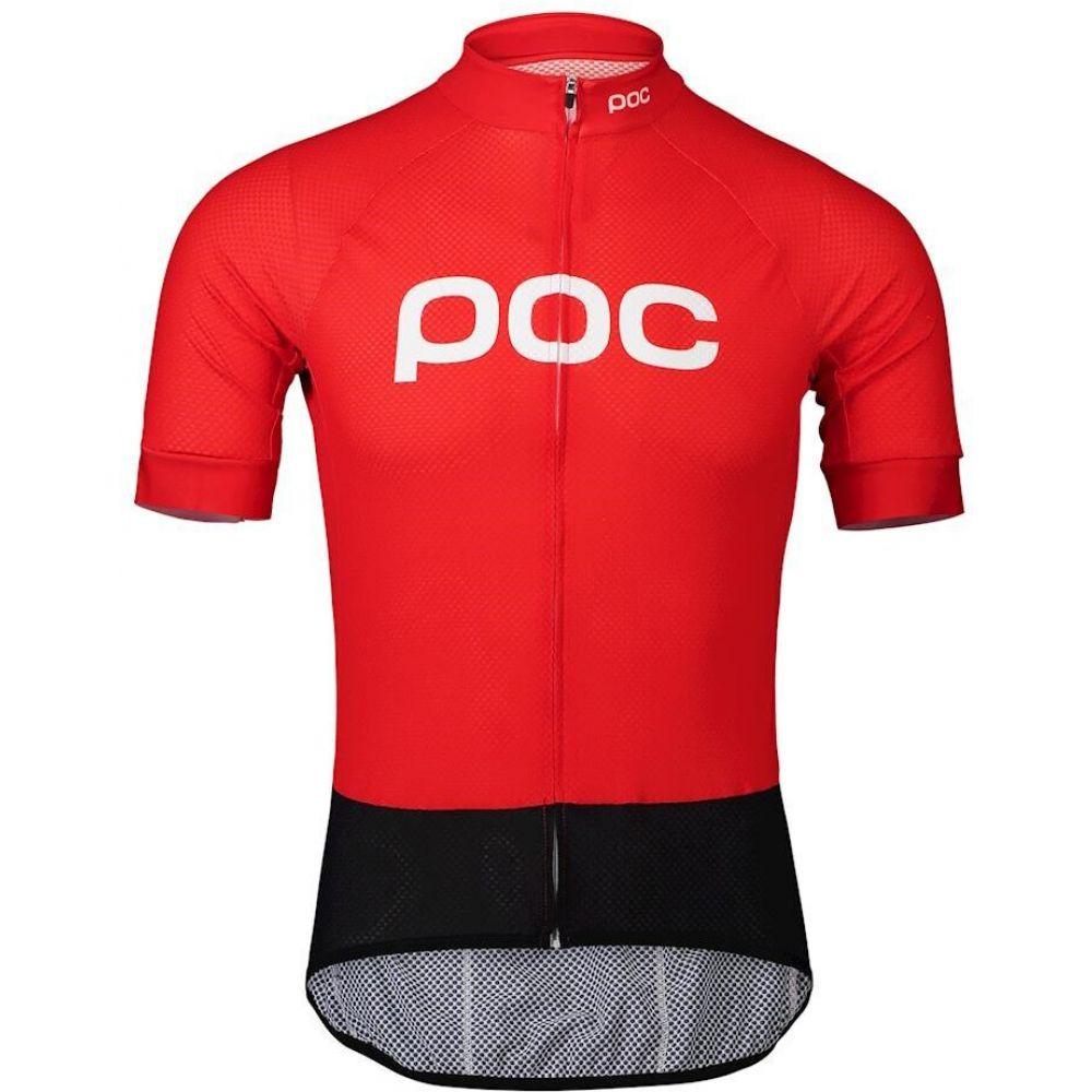 ポック POC メンズ 自転車 トップス【Essential Road Logo Bike Jersey】Prismane Red