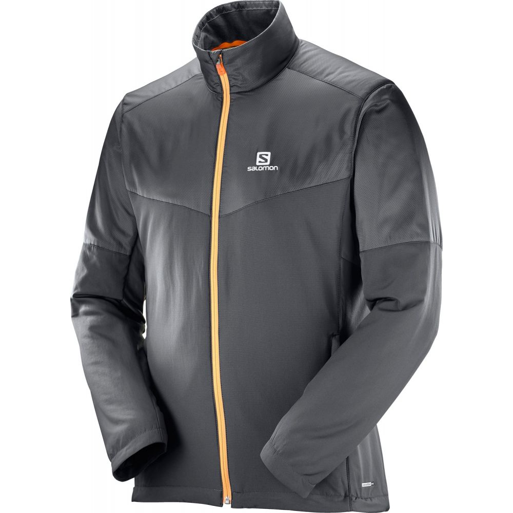 サロモン Salomon メンズ スキー・スノーボード ジャケット アウター【Escape XC Ski Jacket】Forged Iron/Black