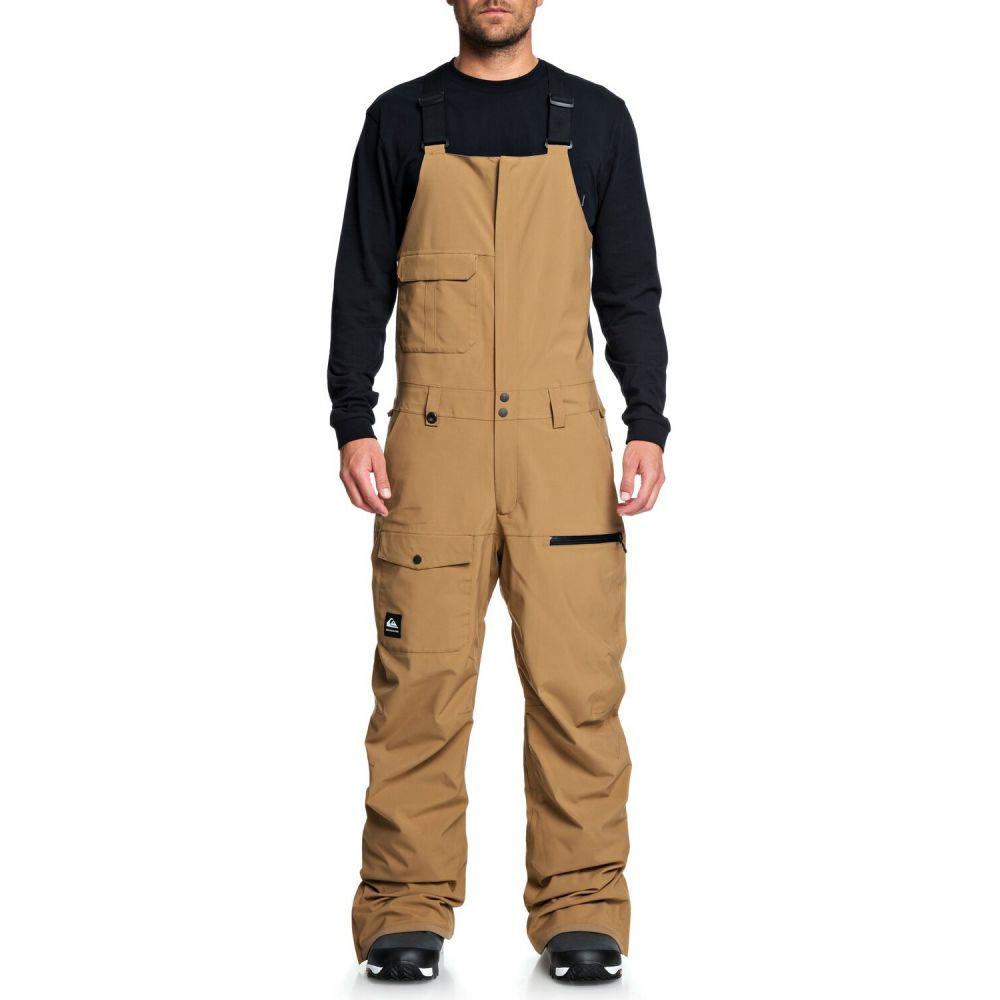クイックシルバー Quiksilver メンズ スキー・スノーボード ビブパンツ ボトムス・パンツ【Utility Bib Snowboard Pants】Otter