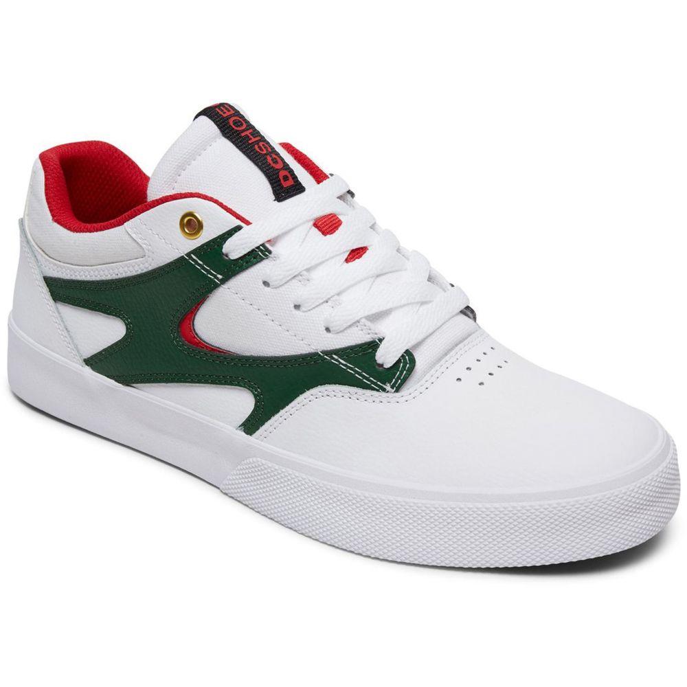ディーシー DC メンズ スケートボード シューズ・靴【Kalis Vulc Skate Shoes】White/Red