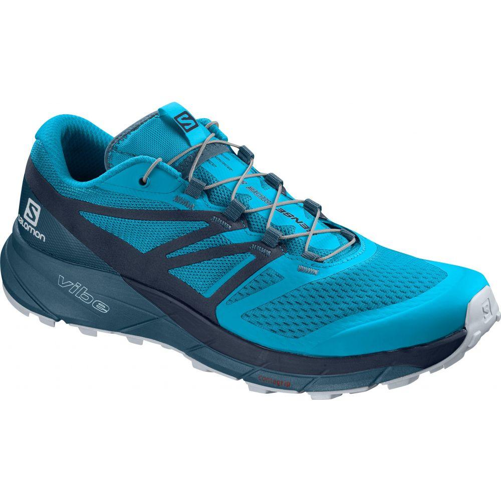 サロモン Salomon メンズ ランニング・ウォーキング シューズ・靴【Sense Ride 2 Trail Running Shoes】Hawaiian Ocean/Navy Blazer/Mallard Blue