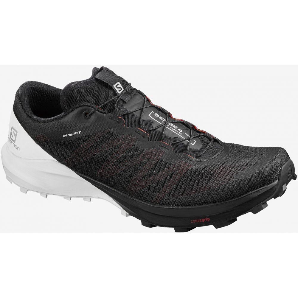 サロモン Salomon メンズ ランニング・ウォーキング シューズ・靴【Sense 4/Pro Trail Running Shoes】Black/White/Cherry Tomato