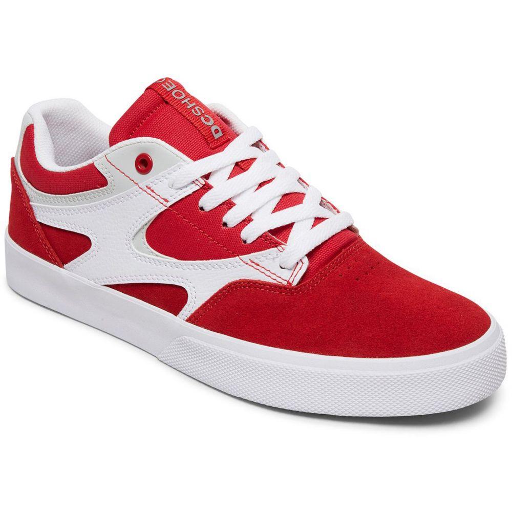 ディーシー DC メンズ スケートボード シューズ・靴【Kalis Vulc Skate Shoes】Red/White