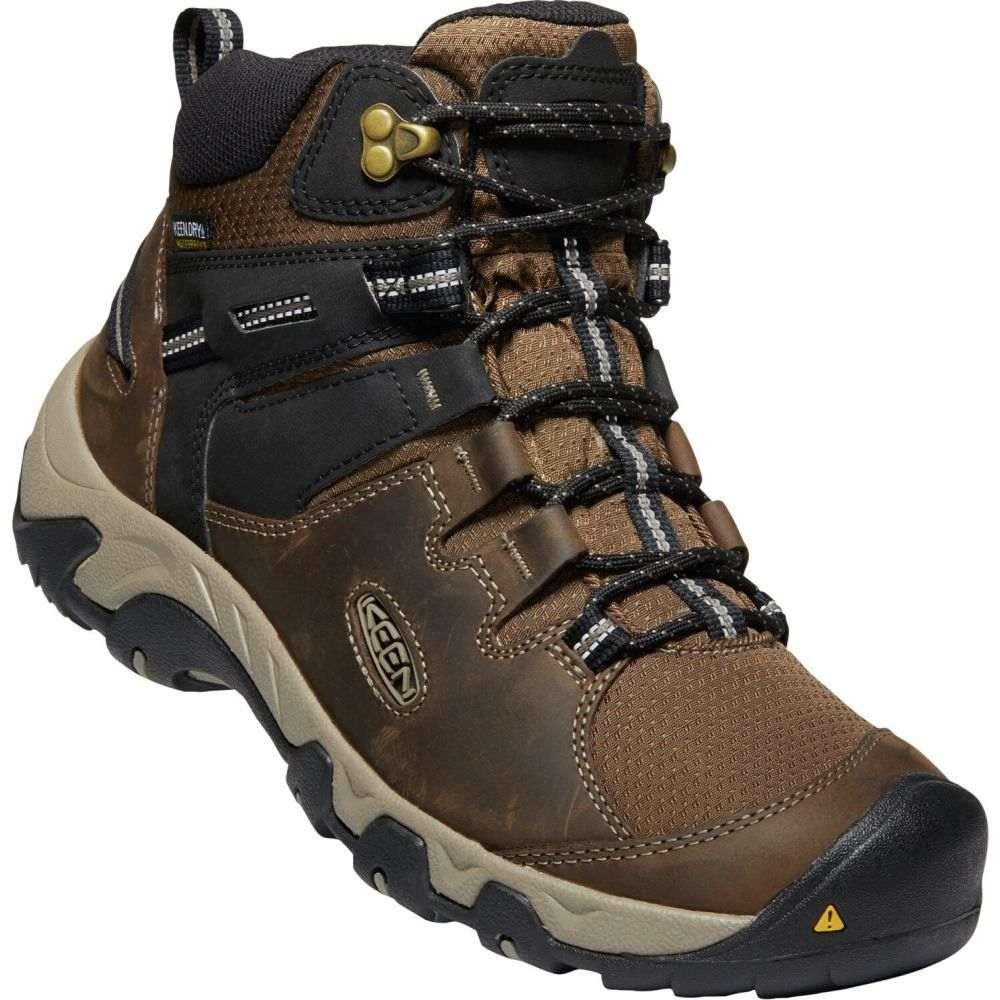 キーン Keen メンズ ハイキング・登山 ブーツ シューズ・靴【Steens Mid WP Hiking Boots】Canteen/Black