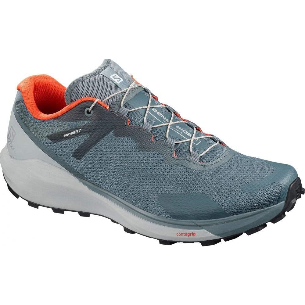 サロモン Salomon メンズ ランニング・ウォーキング シューズ・靴【Sense Ride 3 Trail Running Shoes】Stormy Weather/Pearl Blue/Lapis Blue