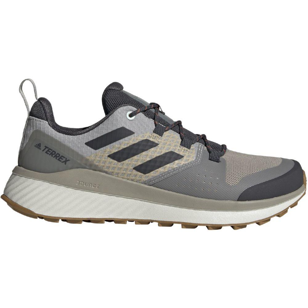 アディダス Adidas メンズ ハイキング・登山 シューズ・靴【Terrex Bounce Hiking Shoes】Feather Grey/DGH Solid Grey/Green Ting