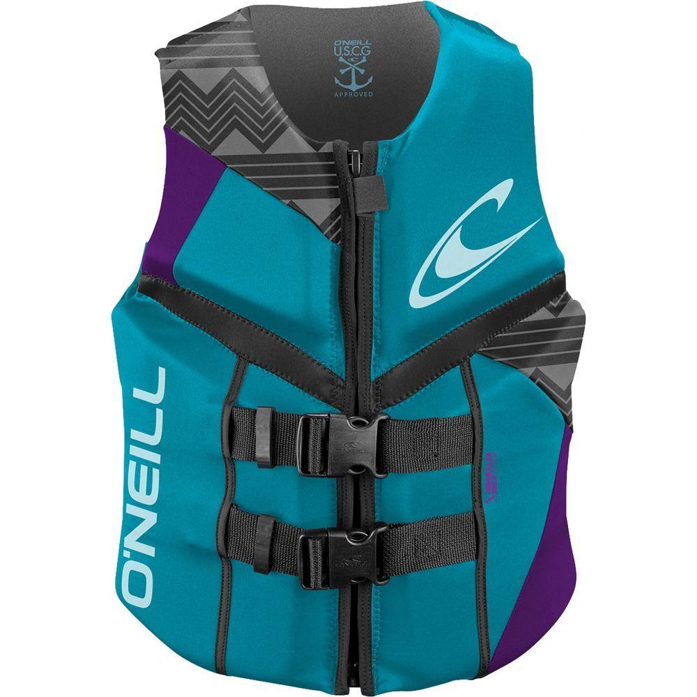 オニール O'Neill レディース トップス【Reactor USCG Wakeboard Vest】Turquoise/UV/Graphite