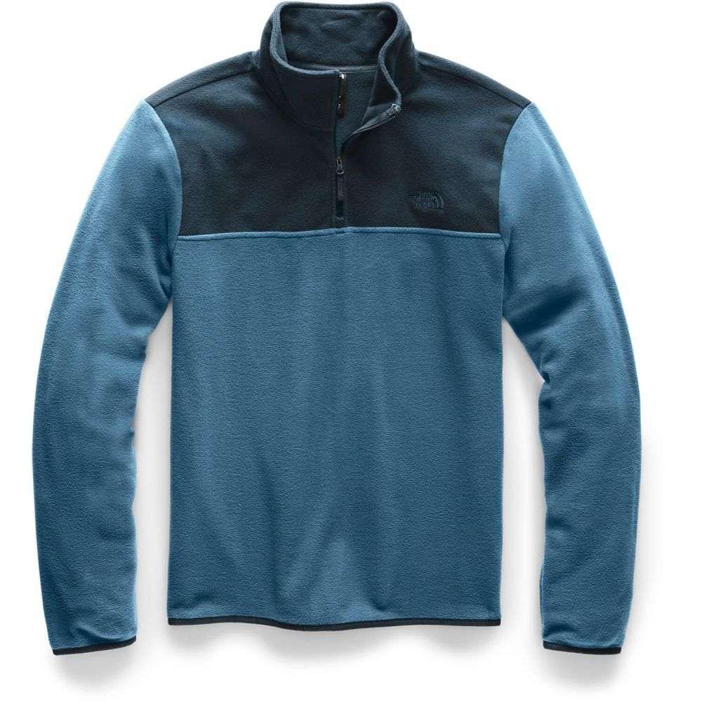 ザ ノースフェイス The North Face メンズ フリース トップス【TKA Glacier 1/4 Zip Fleece】Blue Wing Teal/Urban Navy