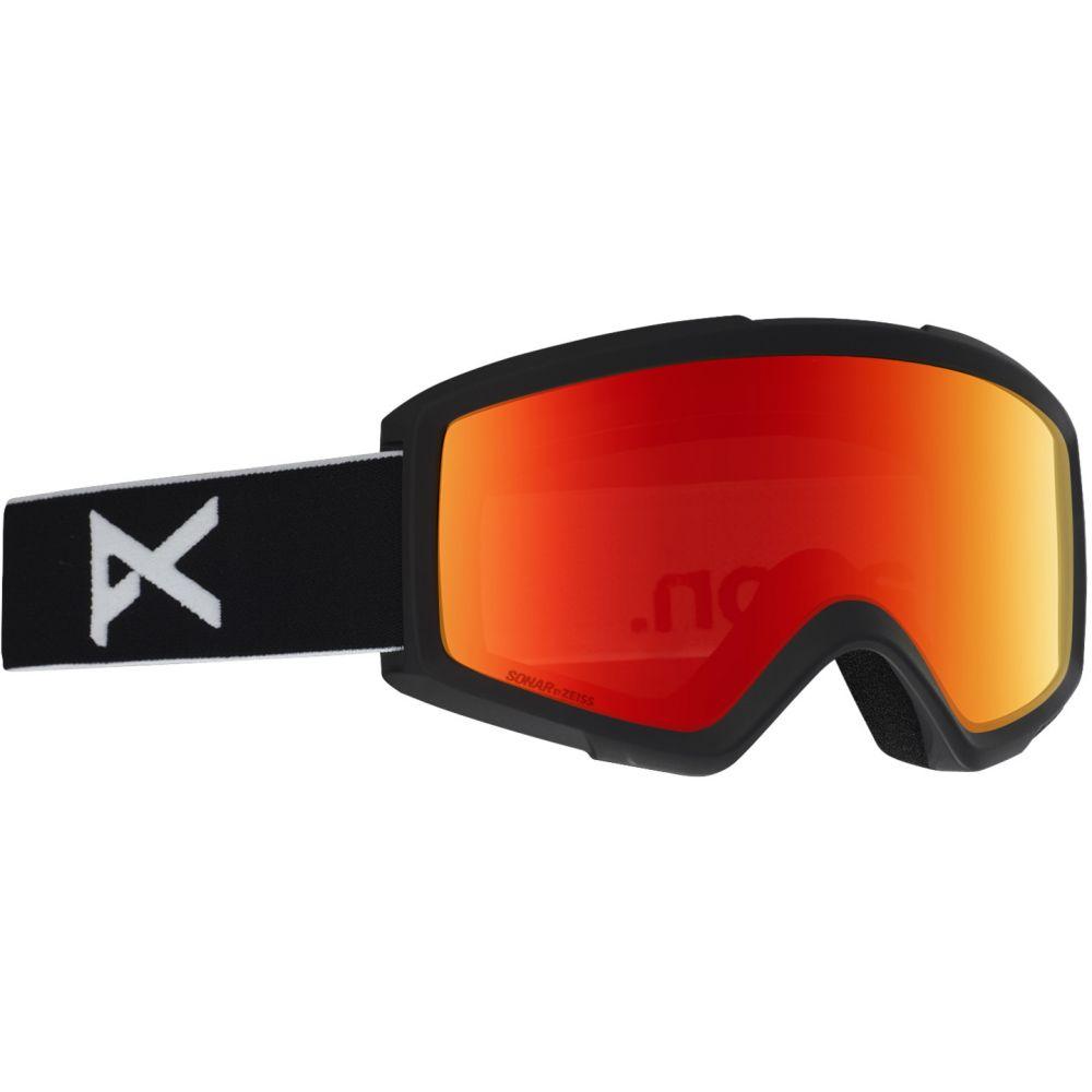 アノン Anon メンズ スキー・スノーボード ゴーグル【Helix Sonar 2.0 Goggle w/ Spare Lens】Black/SONAR Red and Amber Lens