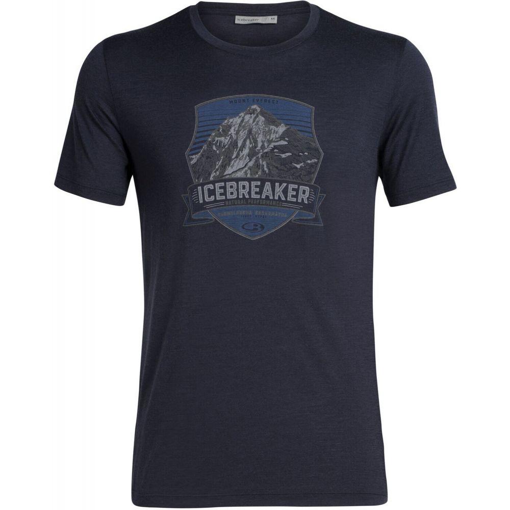 アイスブレーカー Icebreaker メンズ スキー・スノーボード ベースレイヤー トップス【Tech Lite Crewe Everest Crest Baselayer Top】Midnight Navy