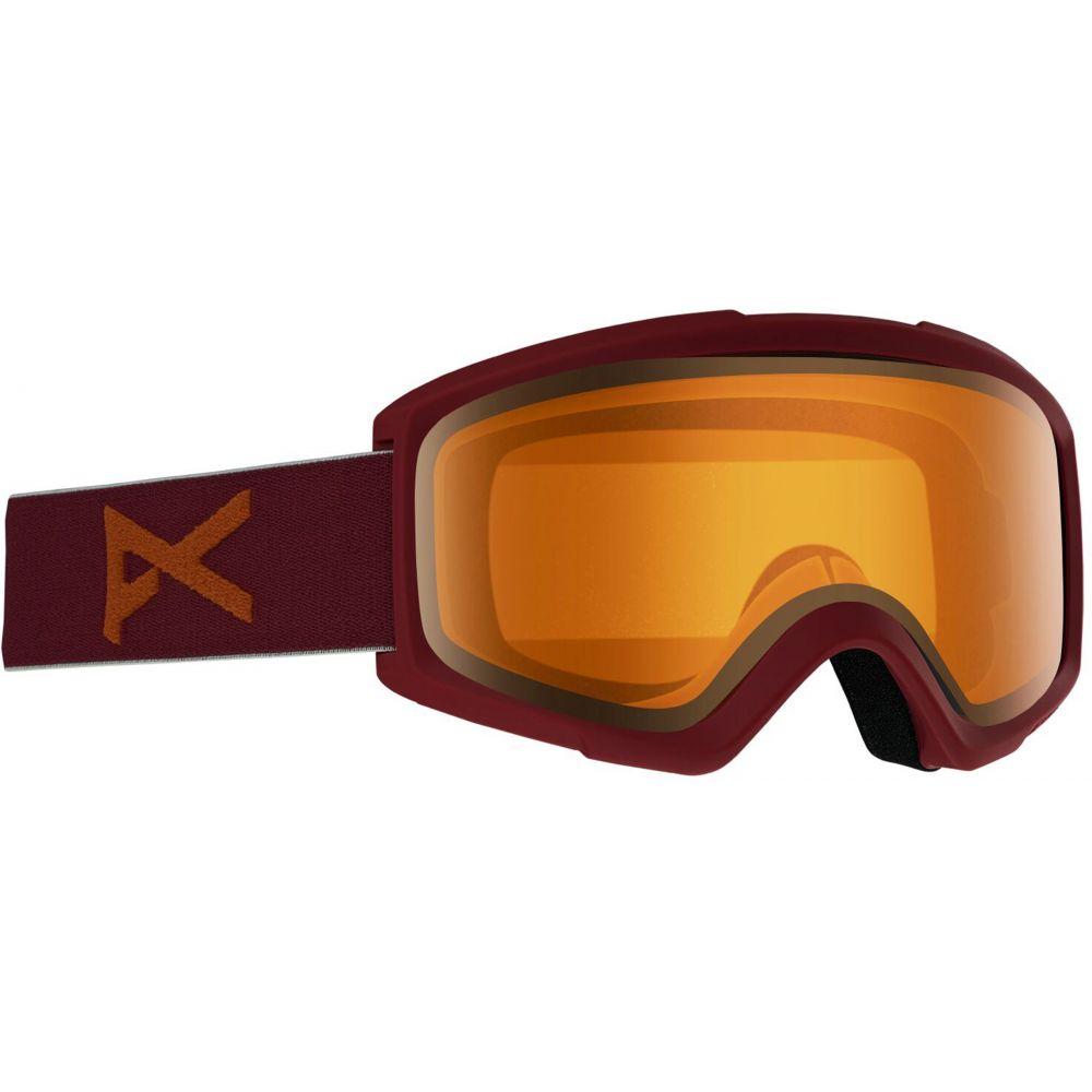 アノン Anon メンズ スキー・スノーボード ゴーグル【Helix Non-Mirror Goggles】Maroon/Amber Lens