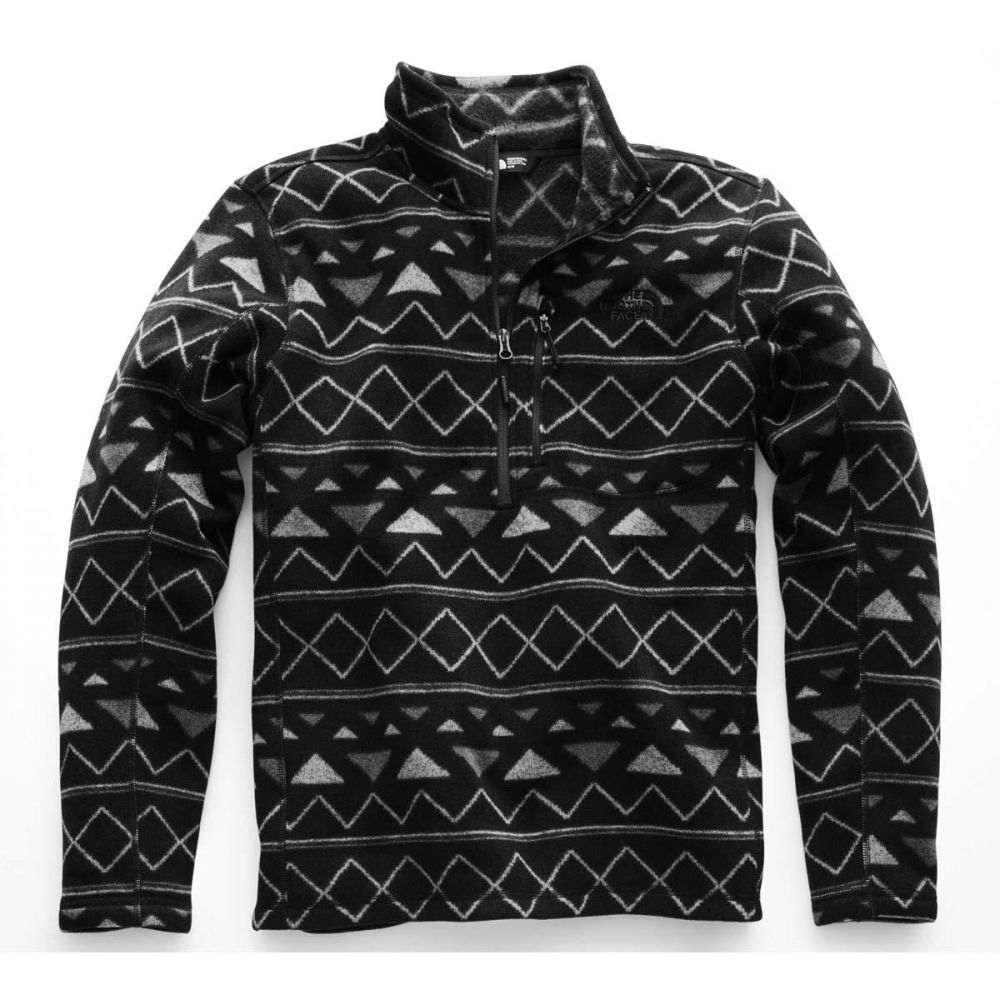 ザ ノースフェイス The North Face メンズ フリース トップス【Gordon Lyons Novelty 1/4 Zip Fleece】TNF Black Triangle Stripe Print