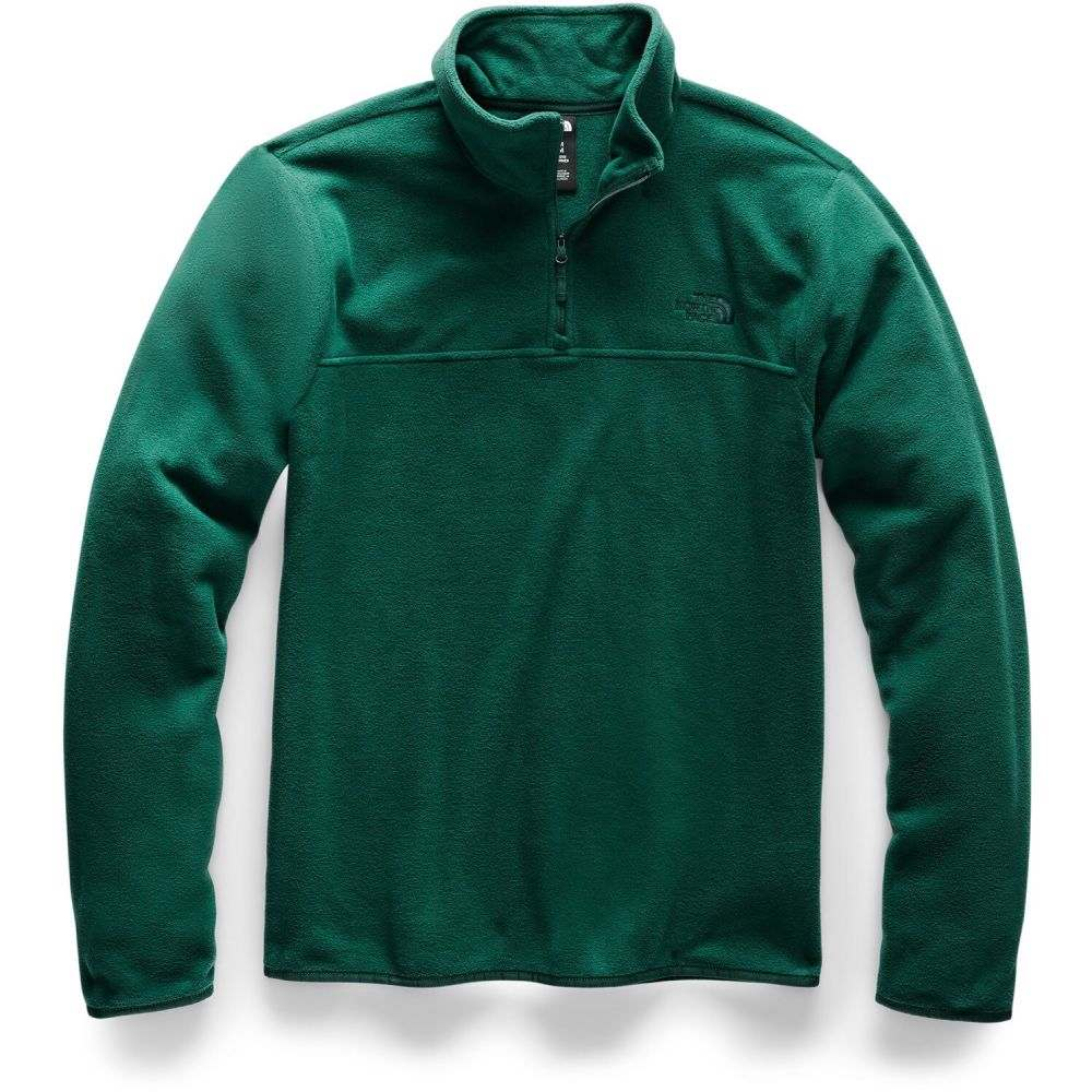 ザ ノースフェイス The North Face メンズ フリース トップス【TKA Glacier 1/4-Zip Fleece】Night Green/Night Green