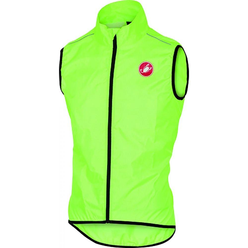 カステリ Castelli メンズ ベスト・ジレ トップス【Squadra Vest】Yellow Fluo