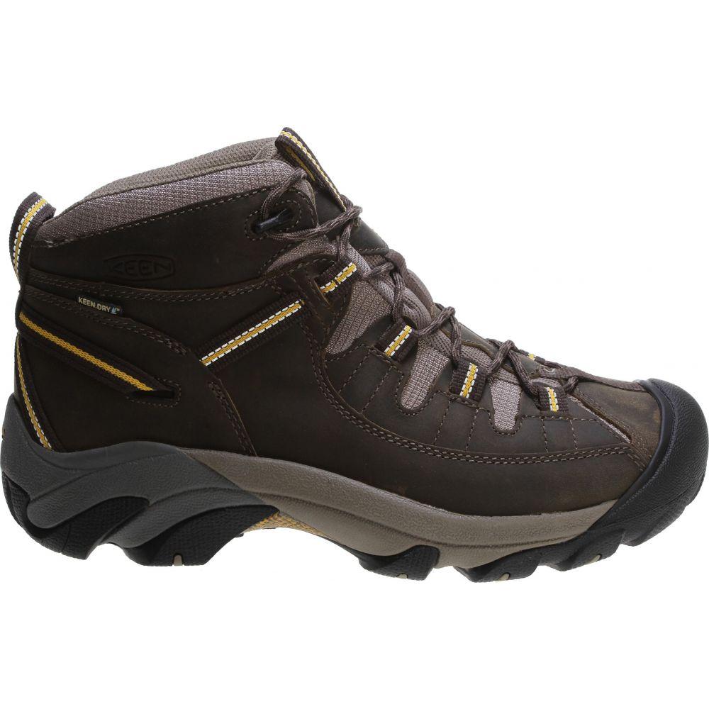 キーン Keen メンズ ハイキング・登山 シューズ・靴【Targhee II Mid Hiking Boots】Black Olive/Yellow