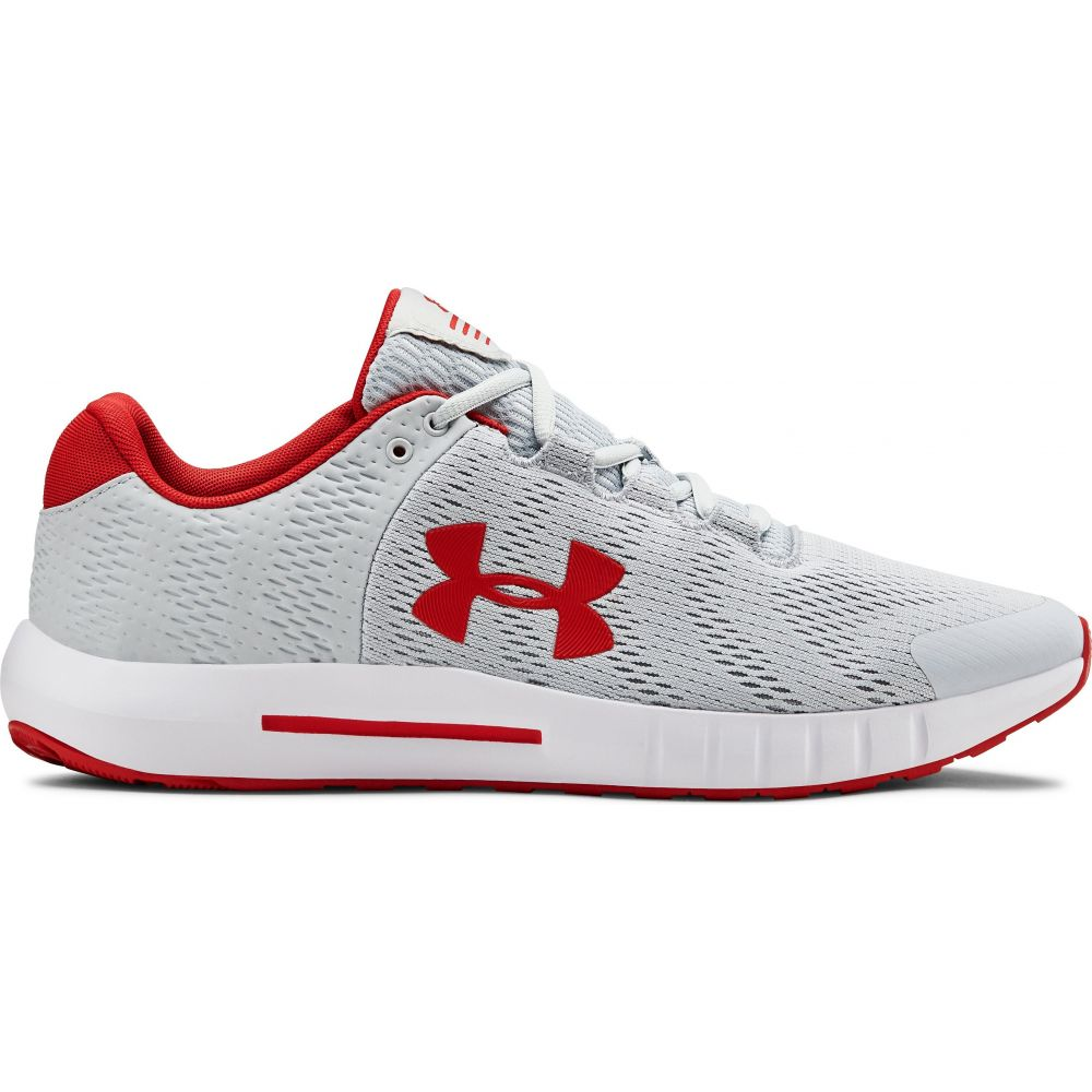 アンダーアーマー Under Armour メンズ ランニング・ウォーキング シューズ・靴【Micro G Pursuit BP Running Shoes】Halo Grey/White/Red