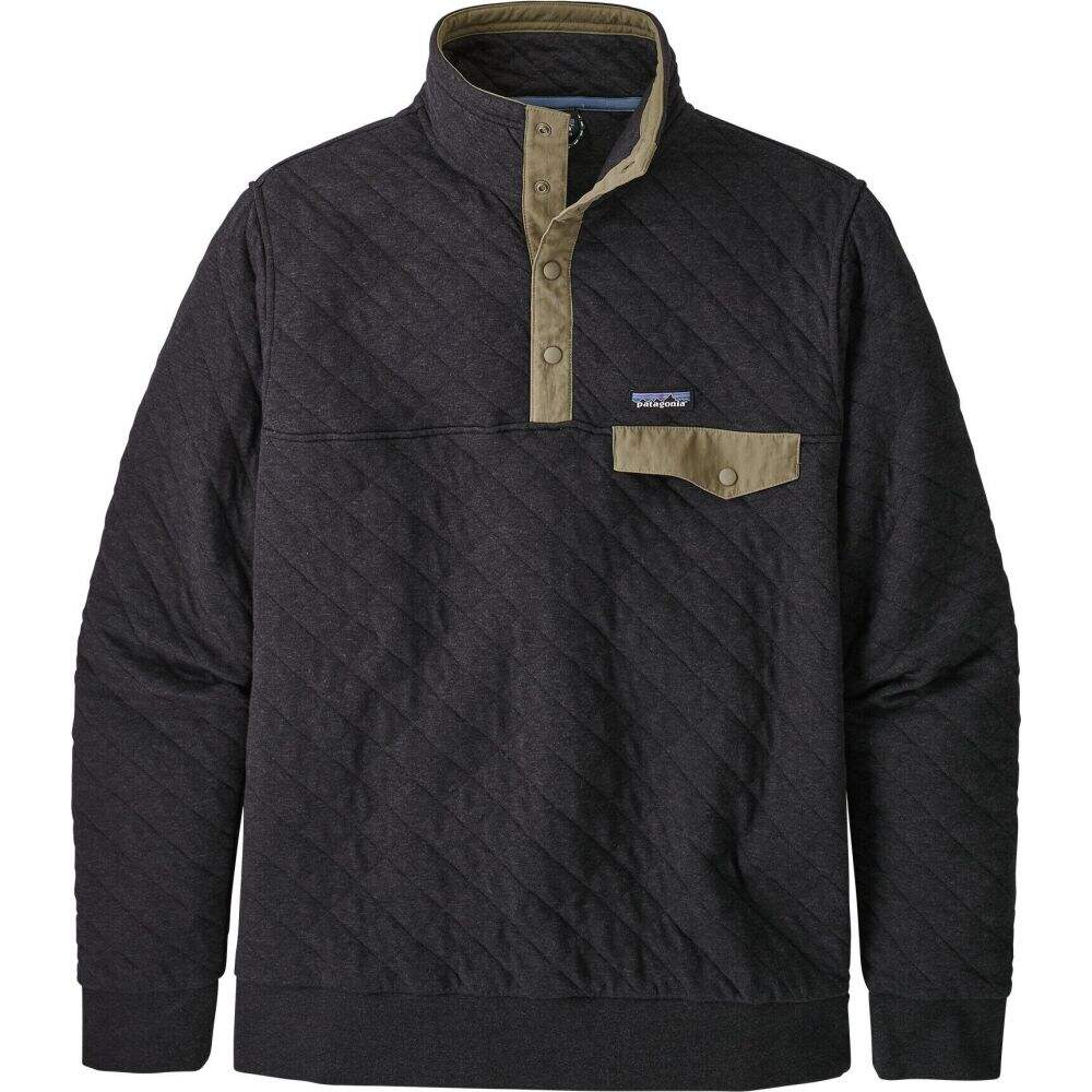 パタゴニア Patagonia メンズ フリース トップス【Organic Cotton Quilt Snap-T Pullover Fleece】Black