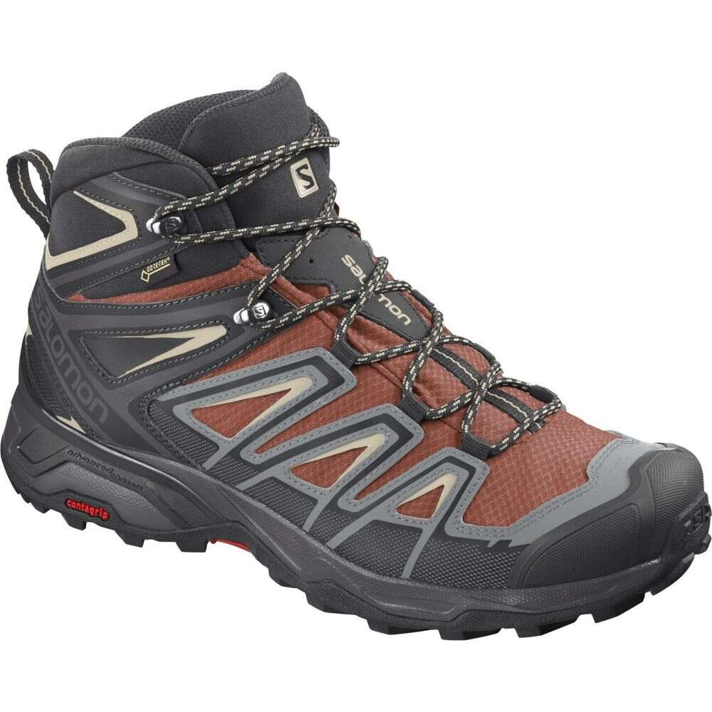 サロモン Salomon メンズ ハイキング・登山 シューズ・靴【X Ultra 3 Mid GTX Hiking Boots】Burnt Brick/Black/Bleached Sand