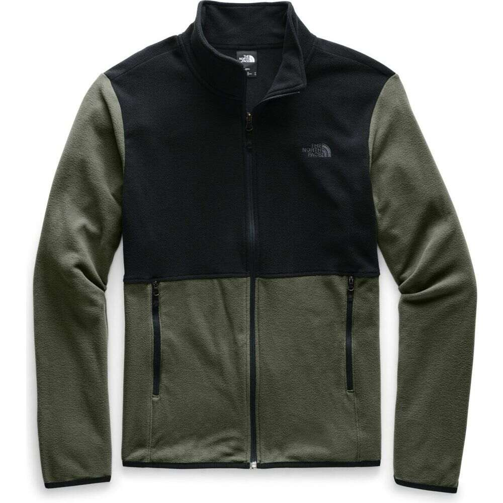 ザ ノースフェイス The North Face メンズ フリース トップス【TKA Glacier Full Zip Fleece】New Taupe Green/TNF Black