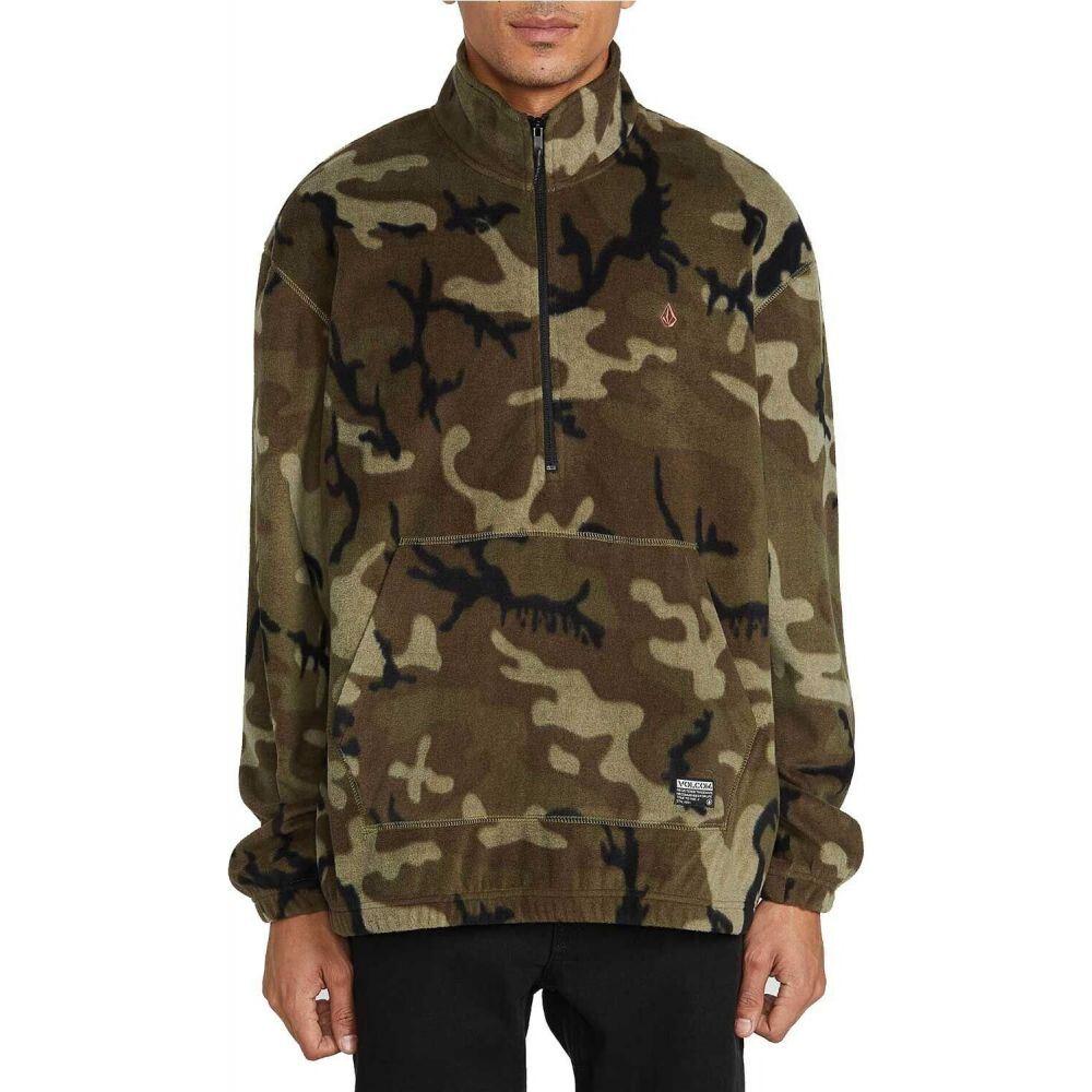 ボルコム Volcom メンズ フリース ハーフジップ トップス【Atavic Quarter Zip Fleece】Camouflage