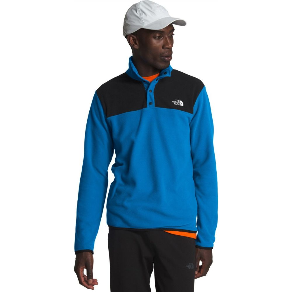 ザ ノースフェイス The North Face メンズ フリース トップス【TKA Glacier Snap-Neck Pullover Fleece】Clear Lake Blue/TNF Black