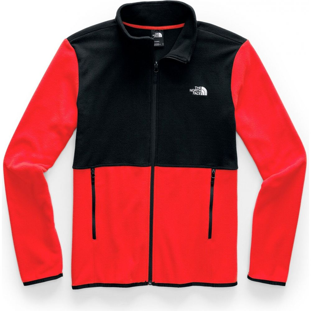ザ ノースフェイス The North Face メンズ フリース トップス【TKA Glacier Full Zip Fleece】Fiery Red/TNF Black
