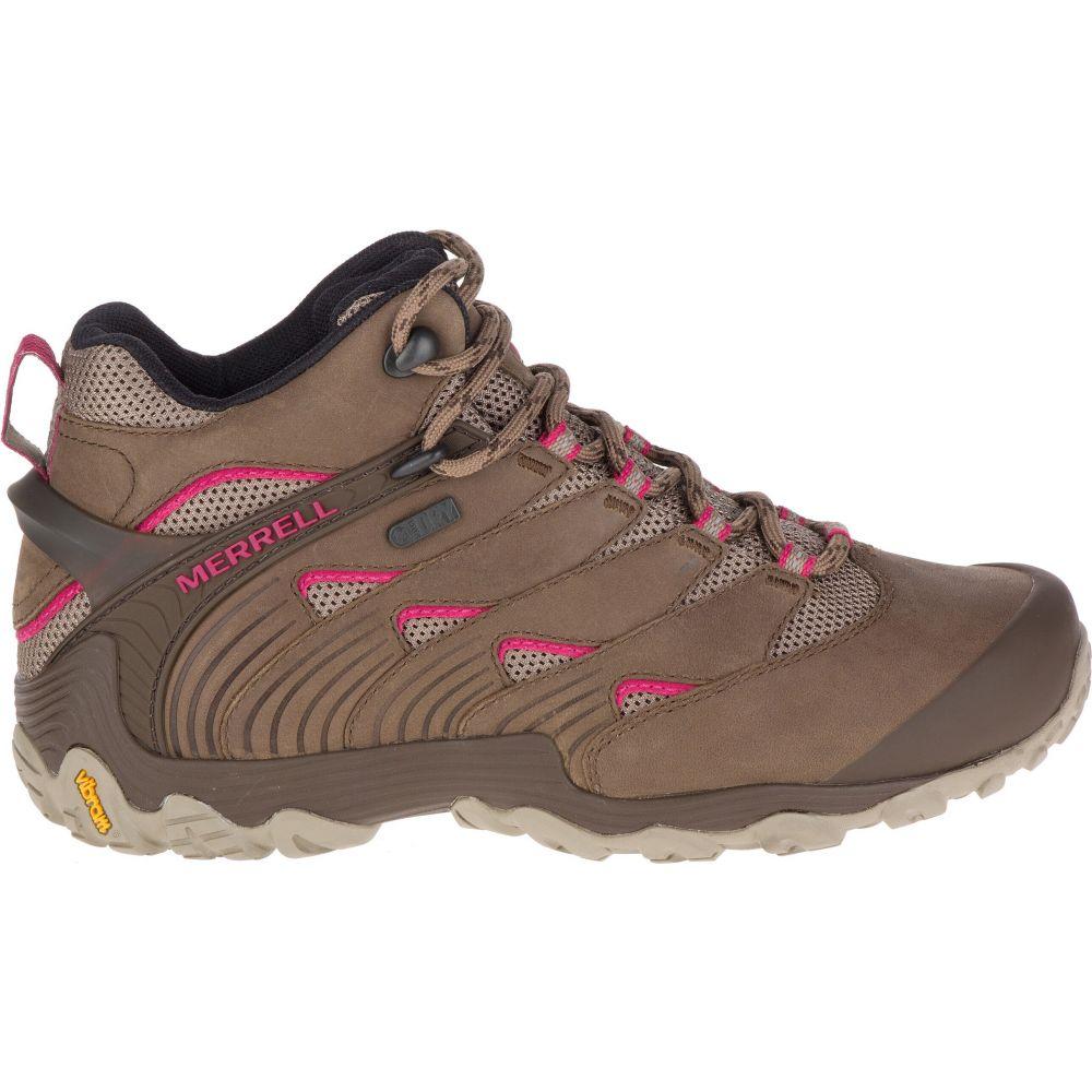 メレル Merrell レディース ハイキング・登山 ブーツ シューズ・靴【Chameleon 7 Mid Waterproof Hiking Boots】Merrell Stone