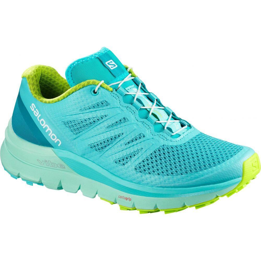 サロモン Salomon レディース ランニング・ウォーキング シューズ・靴【Sense Pro Max Trail Running Shoes】Blue Curacao/Beach Class/Acid Lime