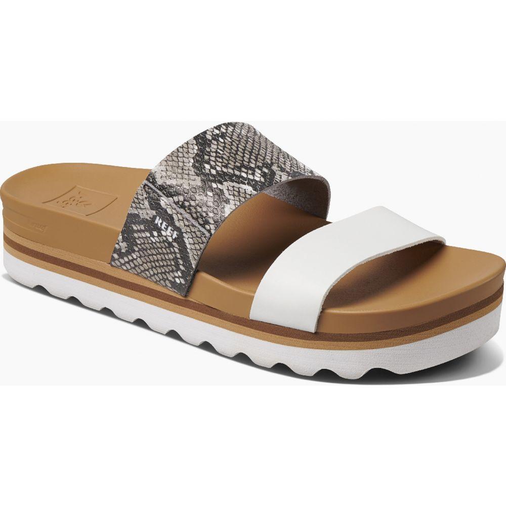 リーフ Reef レディース サンダル・ミュール シューズ・靴【Cushion Bounce Vista Hi Sandals】Snake/White
