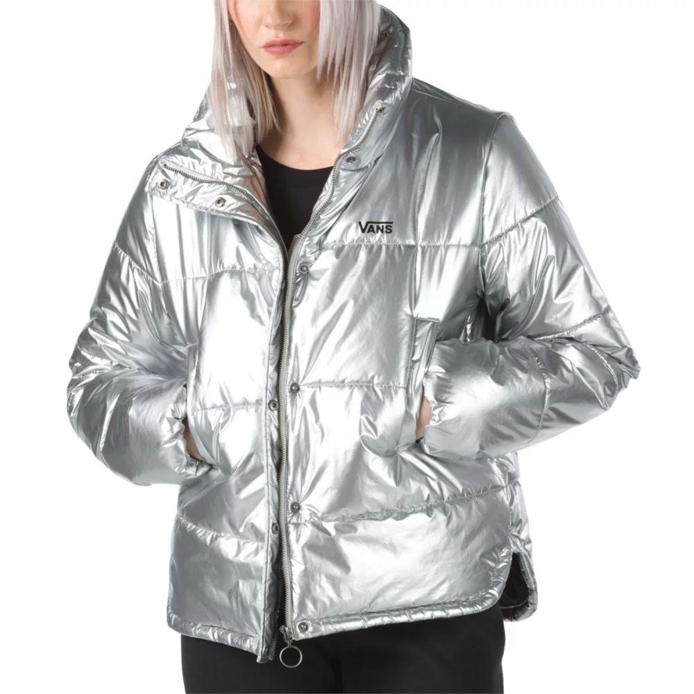 ヴァンズ Vans レディース ジャケット アウター【Galatic Spiral Metallic Jacket】Metallic Silver