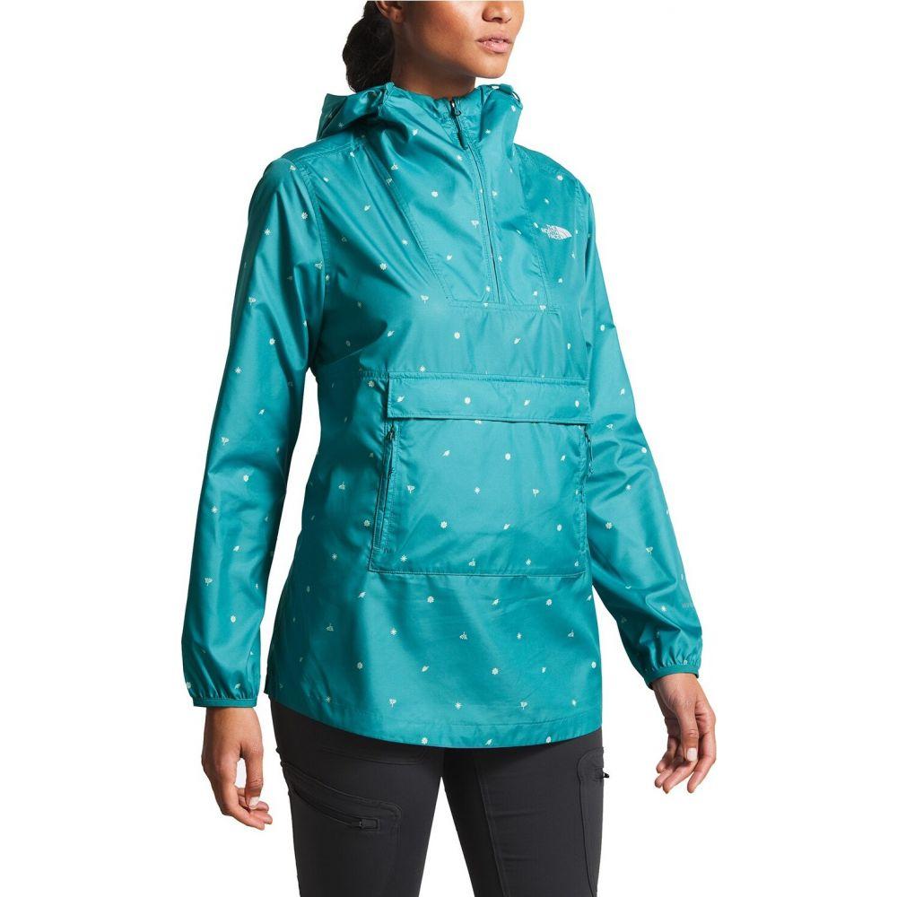 ザ ノースフェイス The North Face レディース ジャケット アウター【Printed Fanorak Pullover Jacket】Spiced Storm Blue Outdoor Print