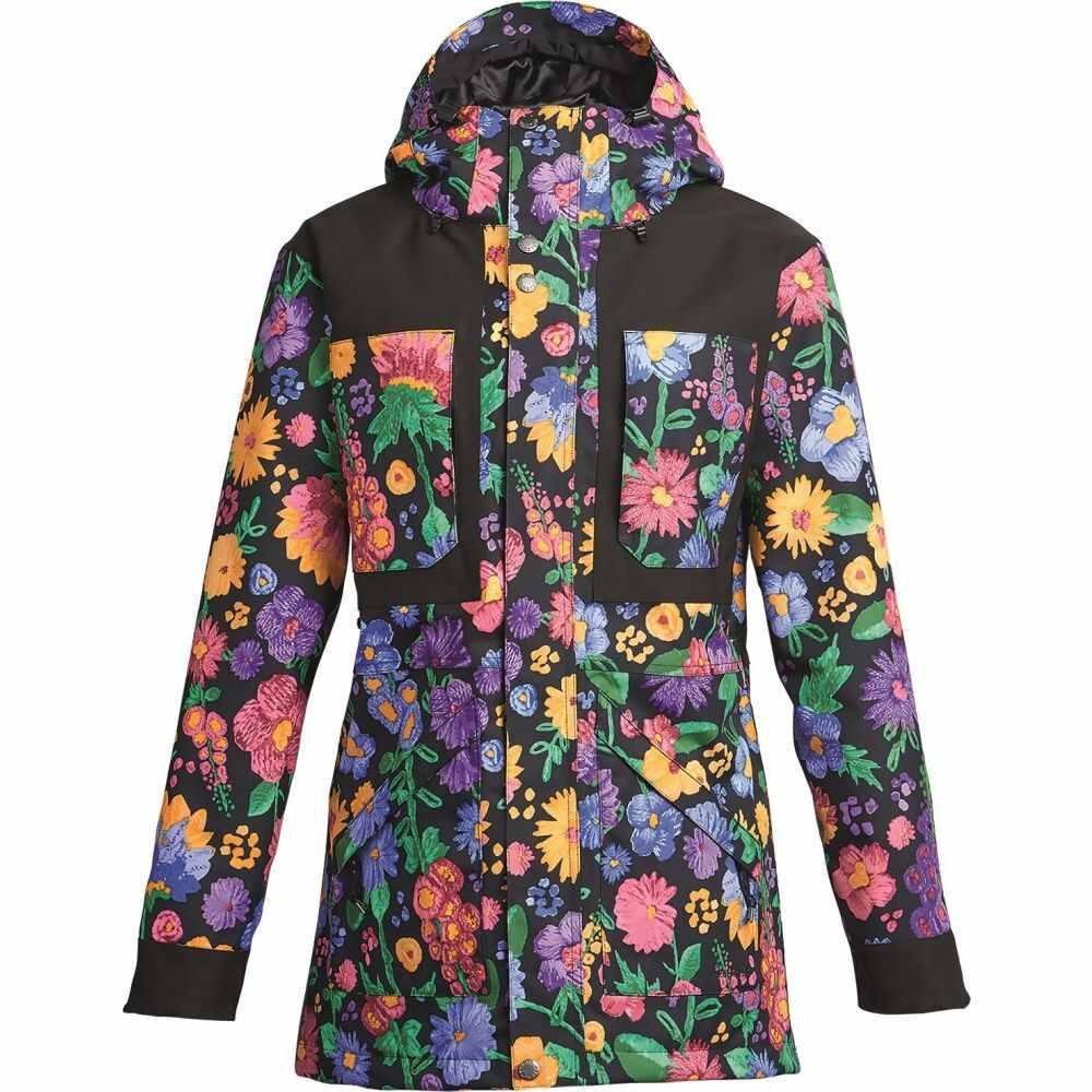 エアブラスター Airblaster レディース ジャケット アウター【Storm Cloak Jacket】Flowers Black