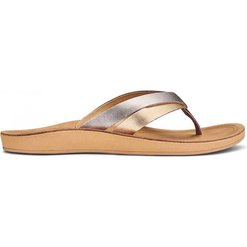 オルカイ Olukai レディース サンダル・ミュール シューズ・靴【Kaekae Sandals】Silver/Golden Sand