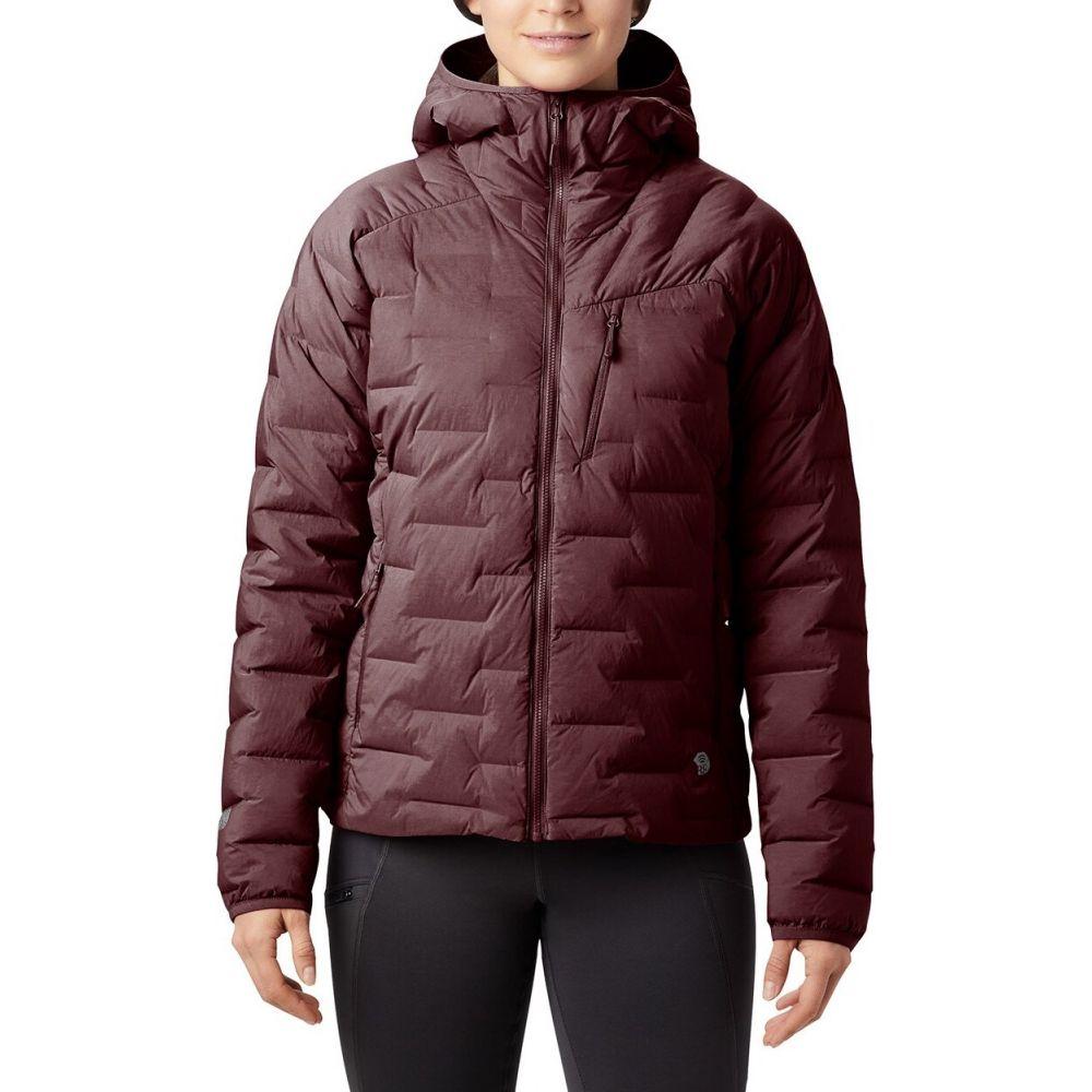マウンテンハードウェア Mountain Hardwear レディース ダウン・中綿ジャケット フード アウター【Super/DS(TM) Stretchdown Hooded Jacket】Dark Umber