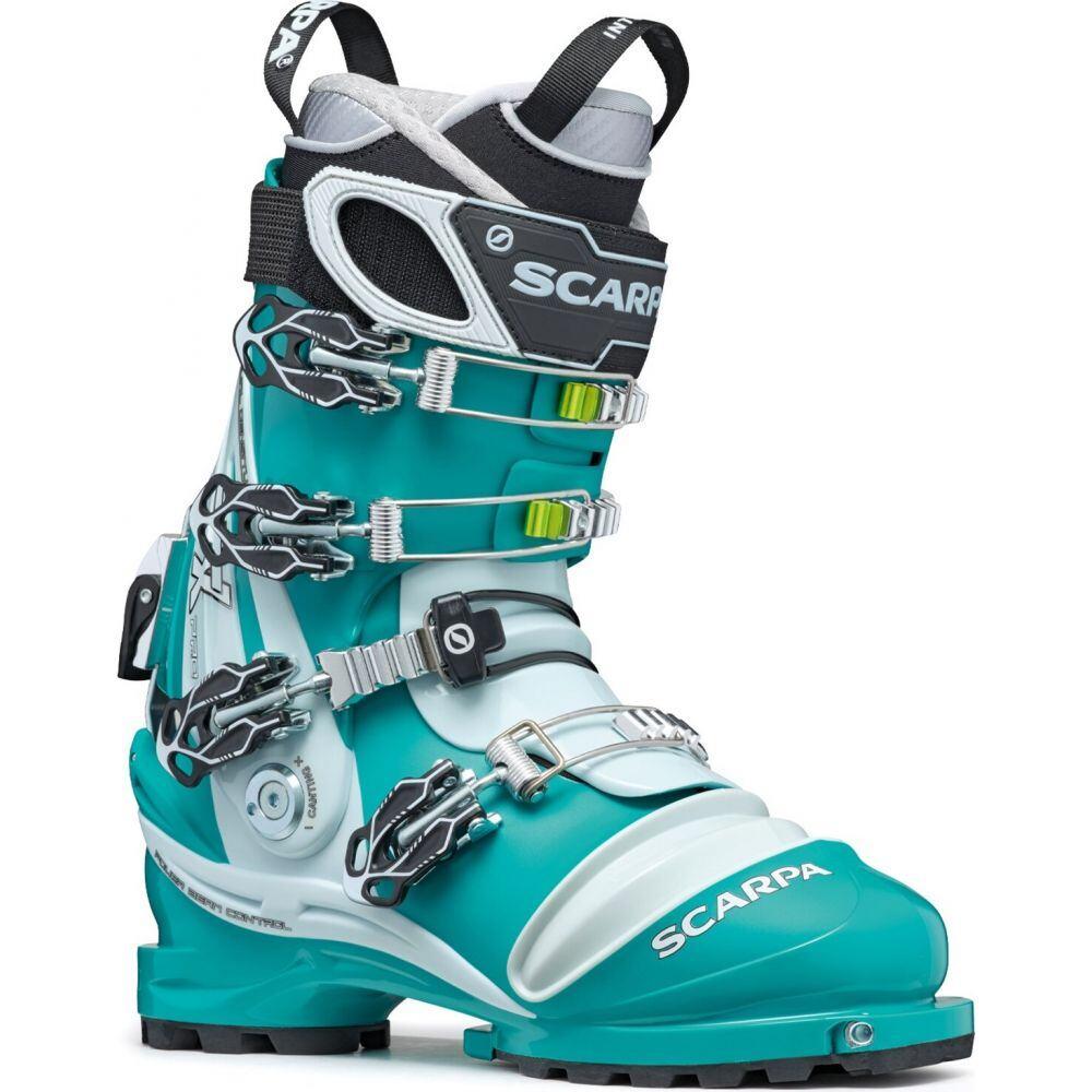 スカルパ Scarpa レディース スキー・スノーボード ブーツ シューズ・靴【TX Pro Telemark Ski Boots 2020】Emerald/Ice Blue
