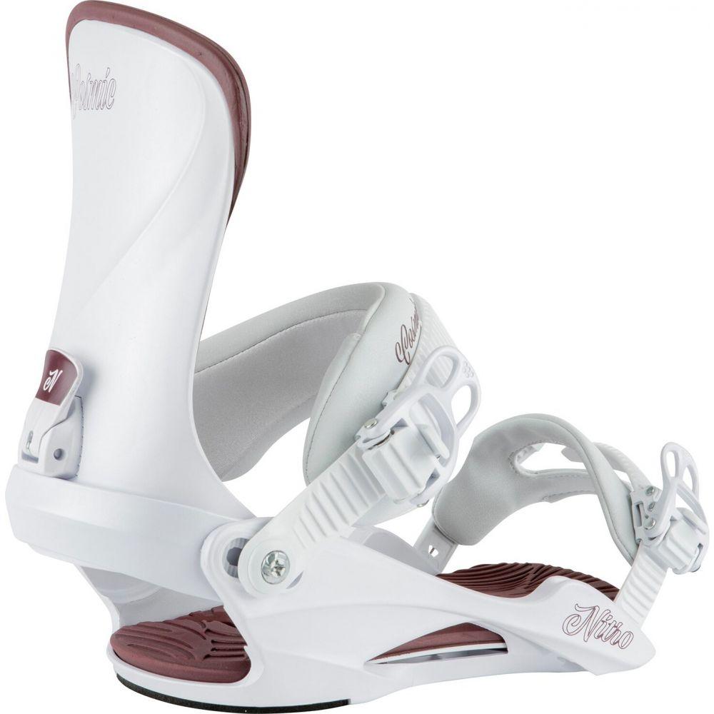 ニトロ Nitro レディース スキー・スノーボード ビンディング【Cosmic Snowboard Bindings 2021】White Pearl
