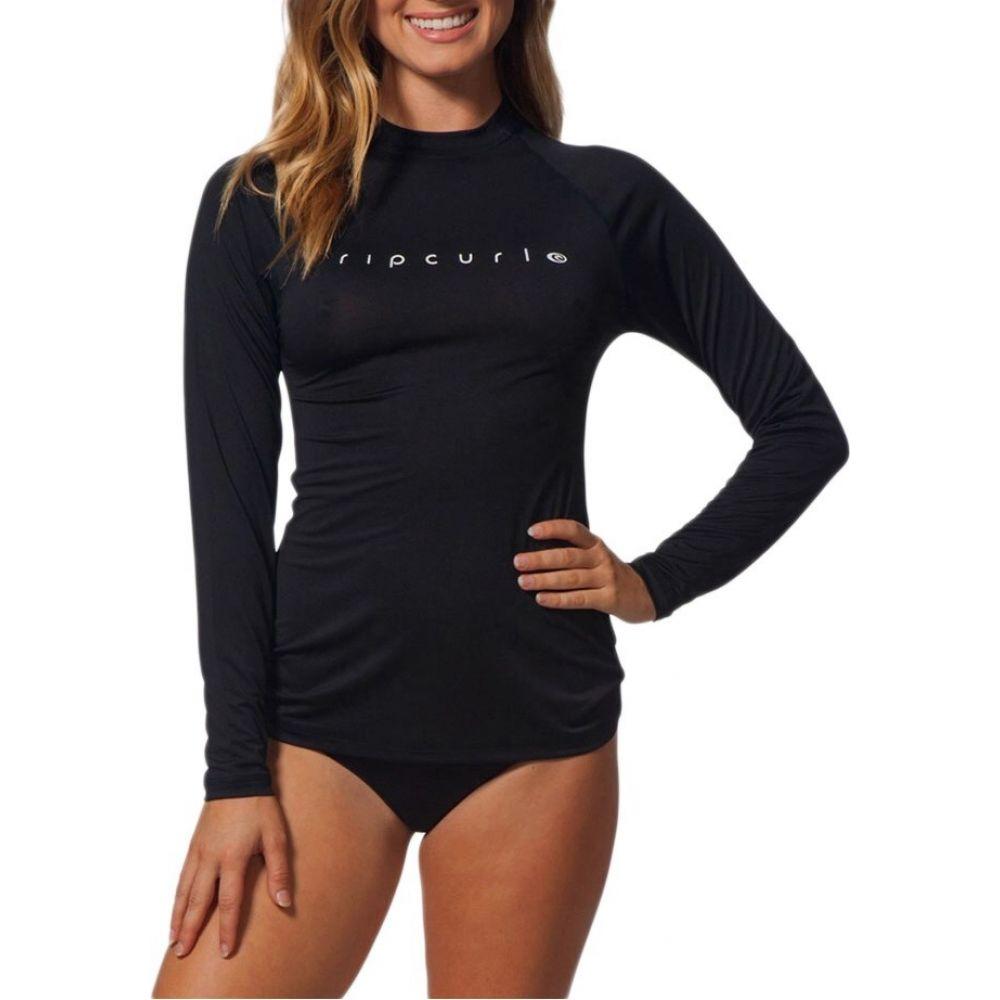 リップカール レディース 水着 ビーチウェア 安心と信頼 ラッシュガード Black サイズ交換無料 Rip sunny ショッピング Curl surf shirt トップス long rays sleeve