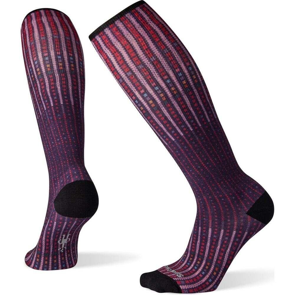スマートウール Smartwool レディース フィットネス・トレーニング ソックス【Compression Virtual Voyager Print OTC Socks】Mountain Purple