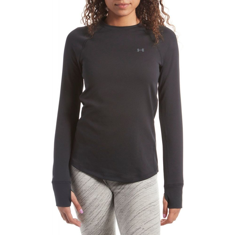 アンダーアーマー Under Armour レディース トップス 【ColdGear Base 2.0 Crew Top】Black/Pitch Gray