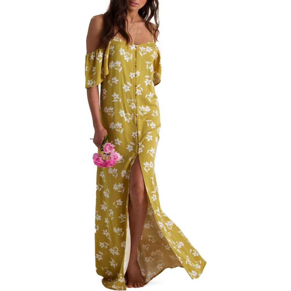 ビラボン Billabong レディース ワンピース ワンピース・ドレス【x Sincerely Jules Shoulder Sway Dress】Citrus