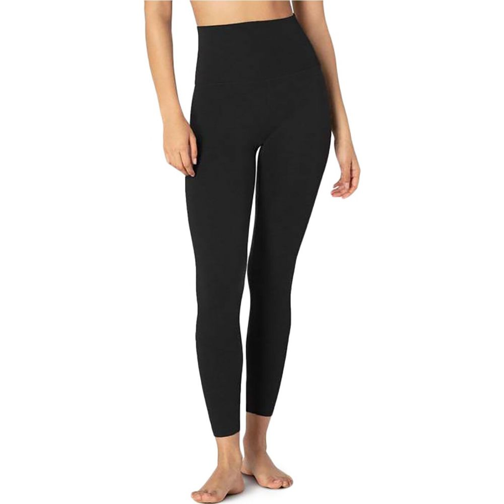 ビヨンドヨガ Beyond Yoga レディース フィットネス・トレーニング スパッツ・レギンス ボトムス・パンツ【Heather Rib High-Waisted Midi Leggings】Black