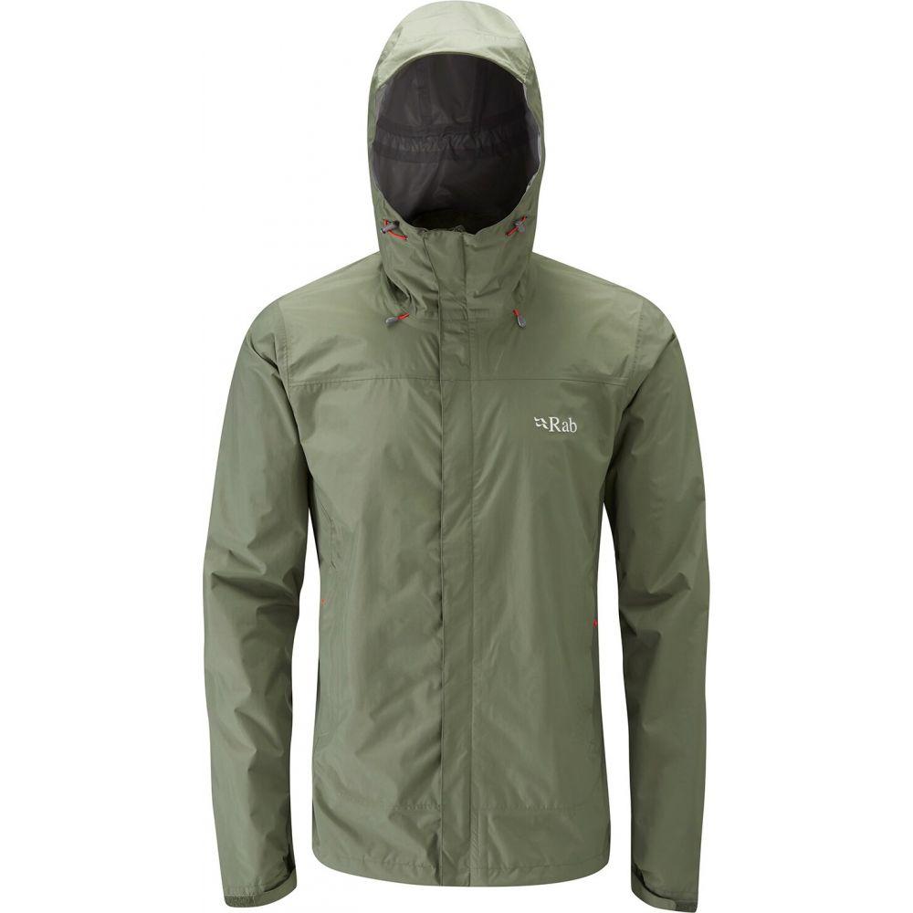 ラブ Rab メンズ レインコート アウター【Downpour Jacket】Field Green