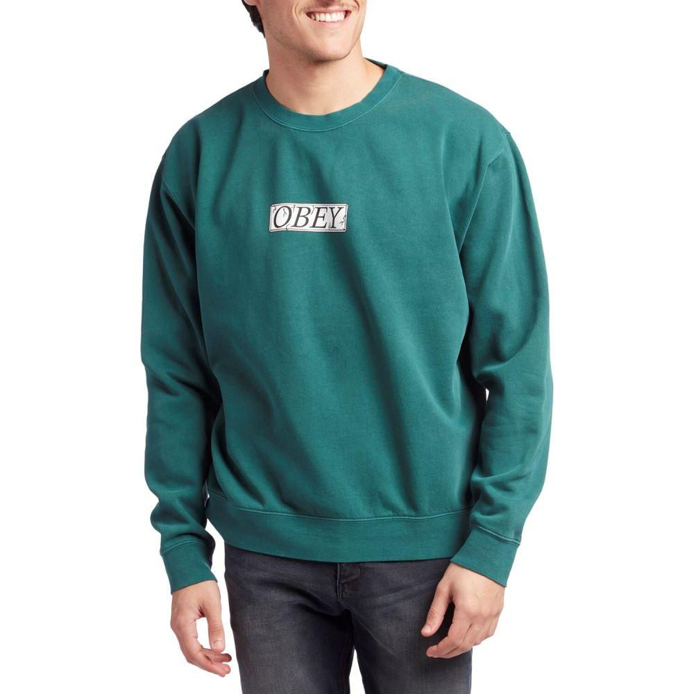 オベイ Obey Clothing メンズ スウェット・トレーナー トップス【Philosophy Crewneck Sweatshirt】Dusty Pine