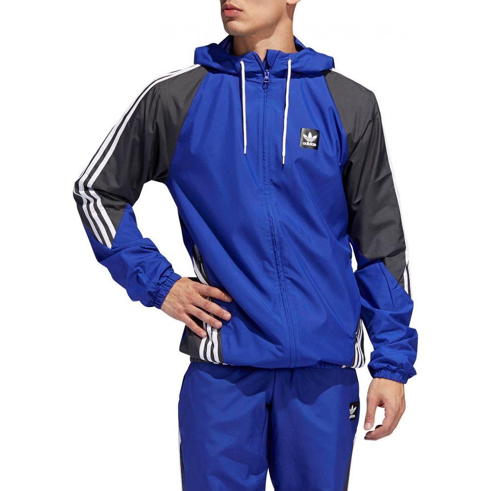 アディダス Adidas メンズ フィットネス・トレーニング ジャケット アウター【Insley Jacket】Active Blue/DGH Solid Grey/White