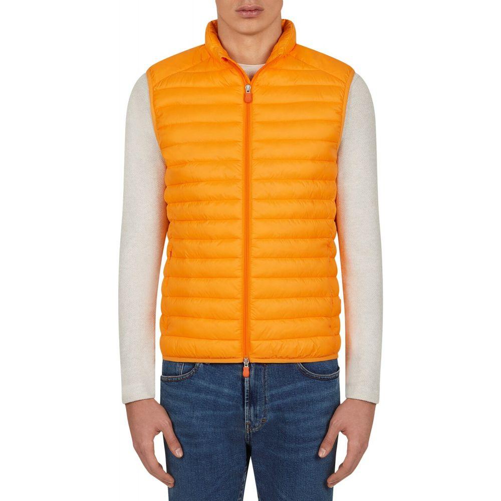 セイブ ザ ダック Save the Duck メンズ ベスト・ジレ トップス【Giga Vest】Chrome Yellow